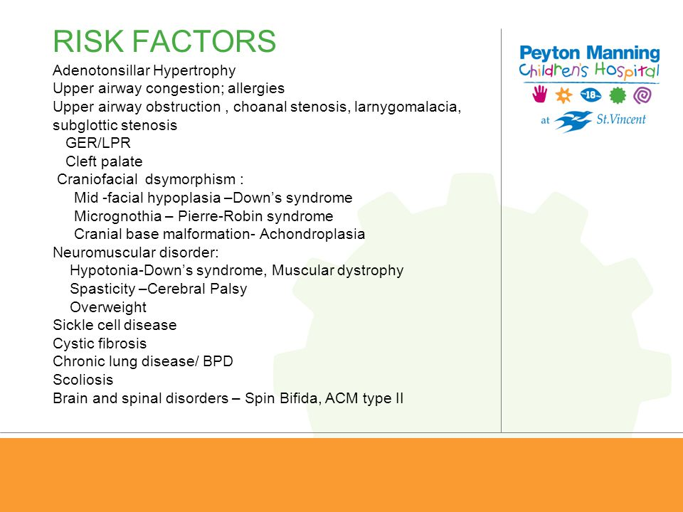 RISK FACTORS Adenotonsillar Hypertrophy