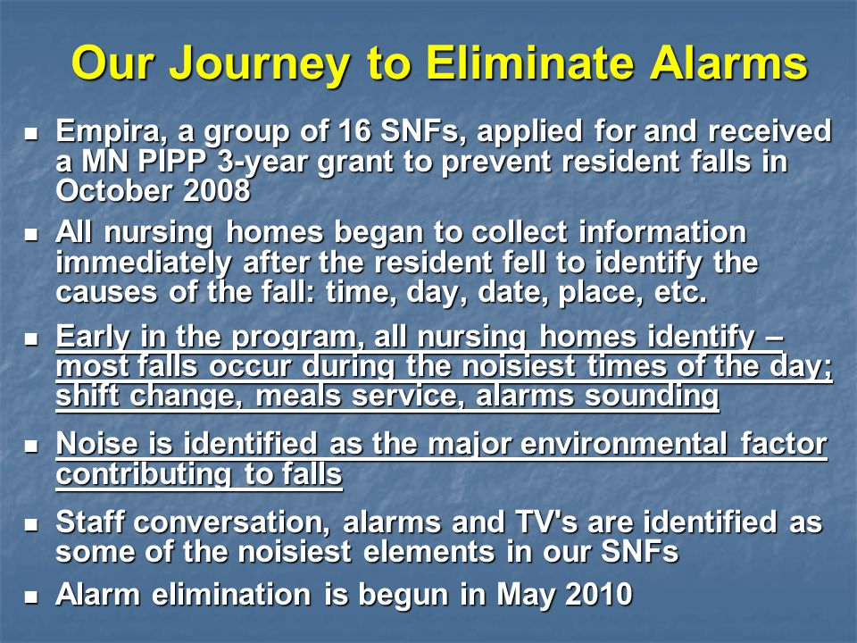 Our Journey to Eliminate Alarms