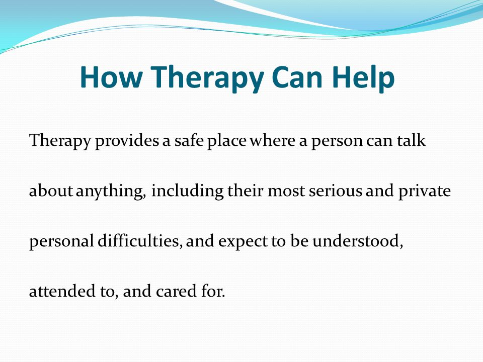 How Therapy Can Help