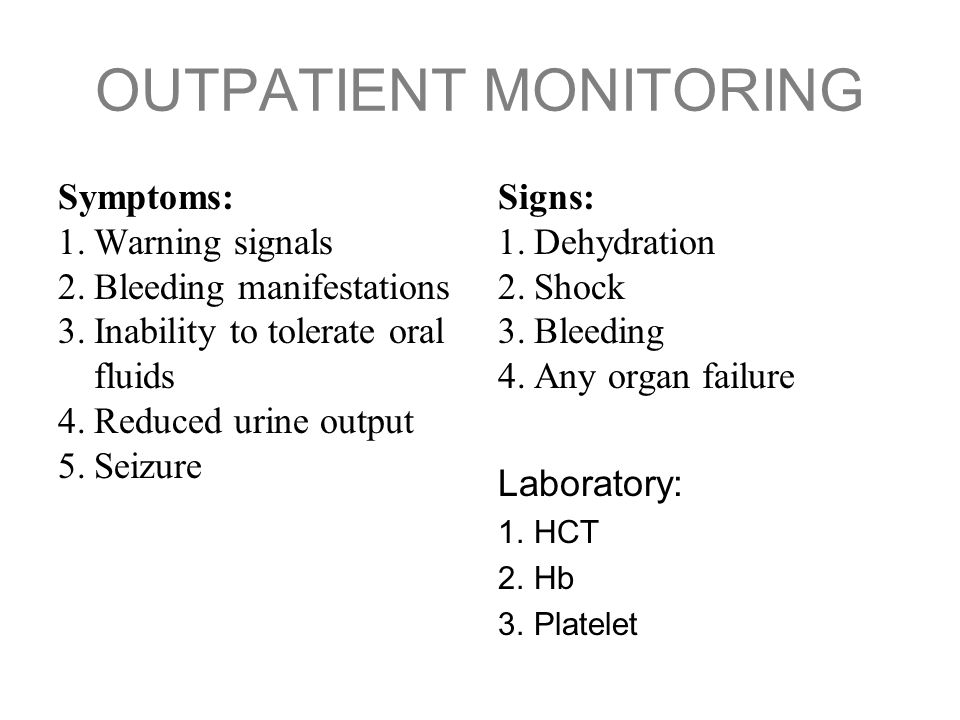 OUTPATIENT MONITORING