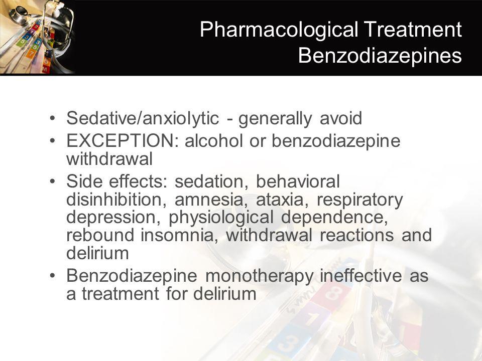 Pharmacological Treatment Benzodiazepines