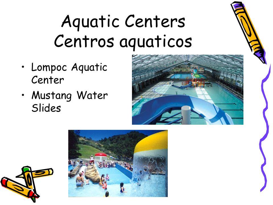 Aquatic Centers Centros aquaticos