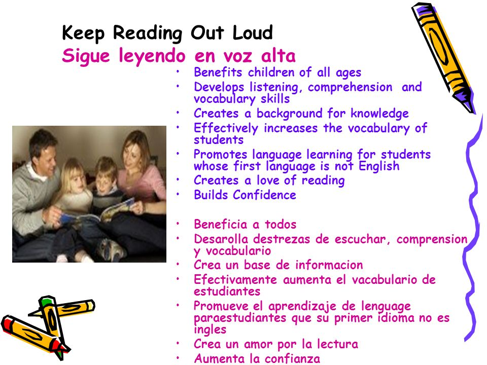 Keep Reading Out Loud Sigue leyendo en voz alta