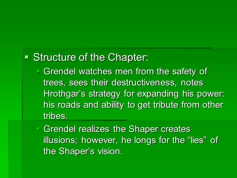 Structure of the Chapter: