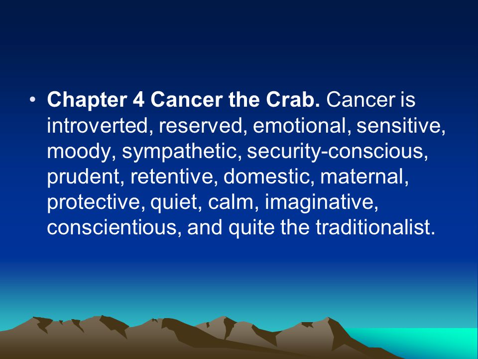 Chapter 4 Cancer the Crab