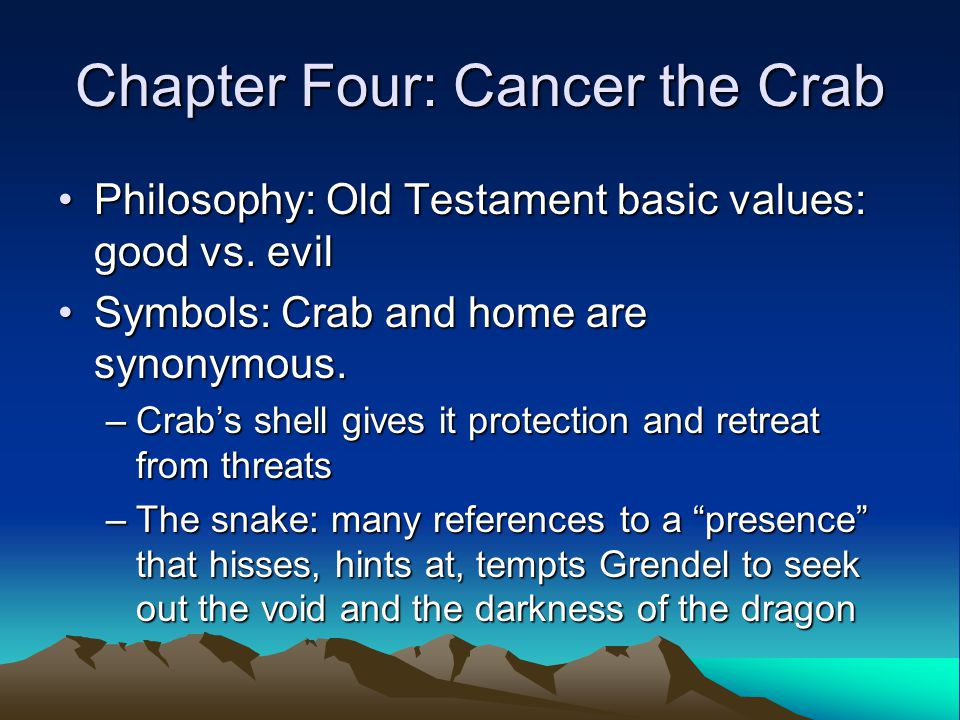 Chapter Four: Cancer the Crab