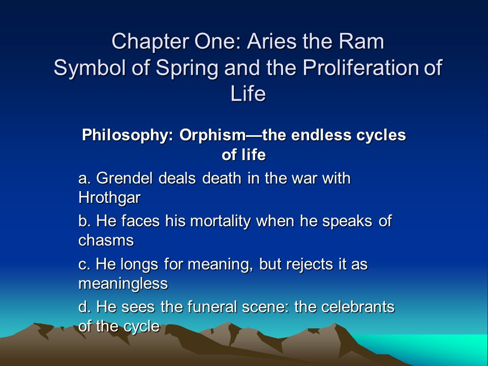 Philosophy: Orphism—the endless cycles of life