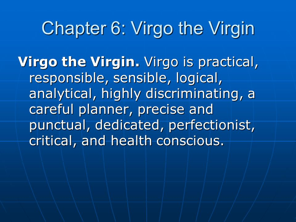 Chapter 6: Virgo the Virgin