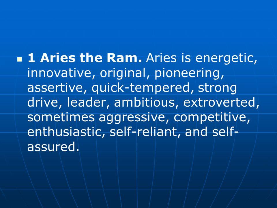 1 Aries the Ram.