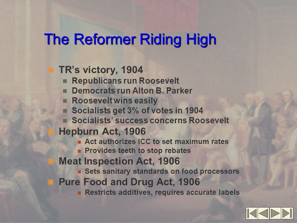 The Reformer Riding High