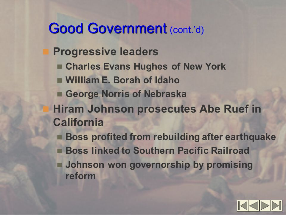 Good Government (cont.'d)