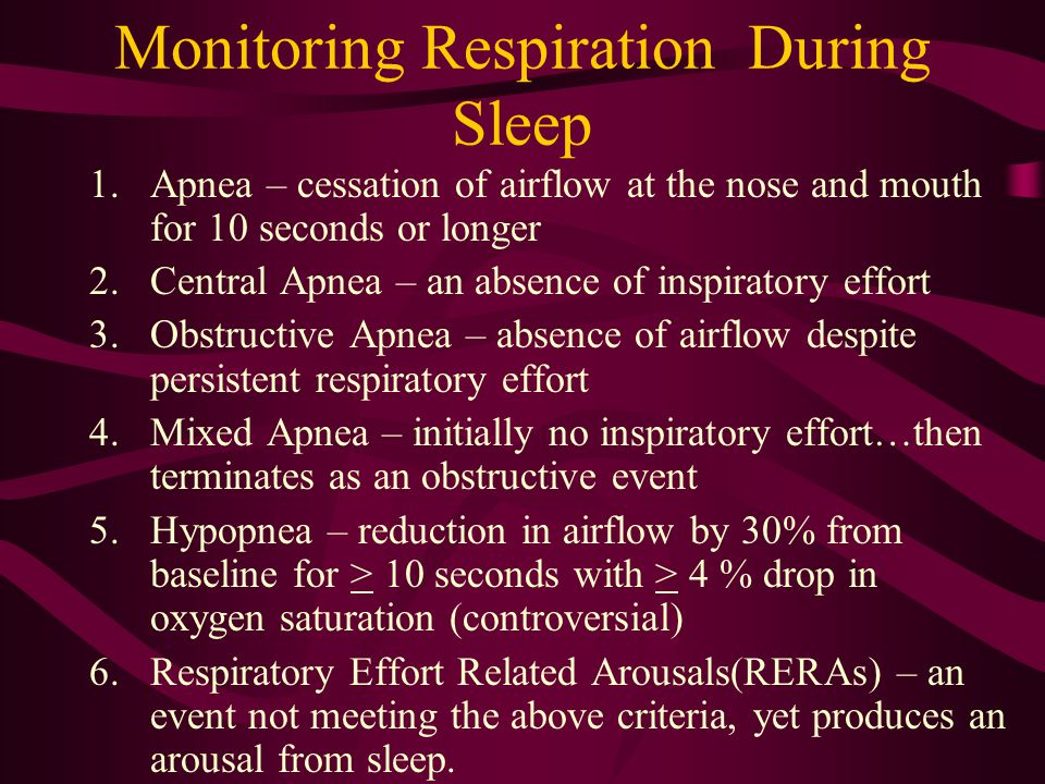 Monitoring Respiration During Sleep