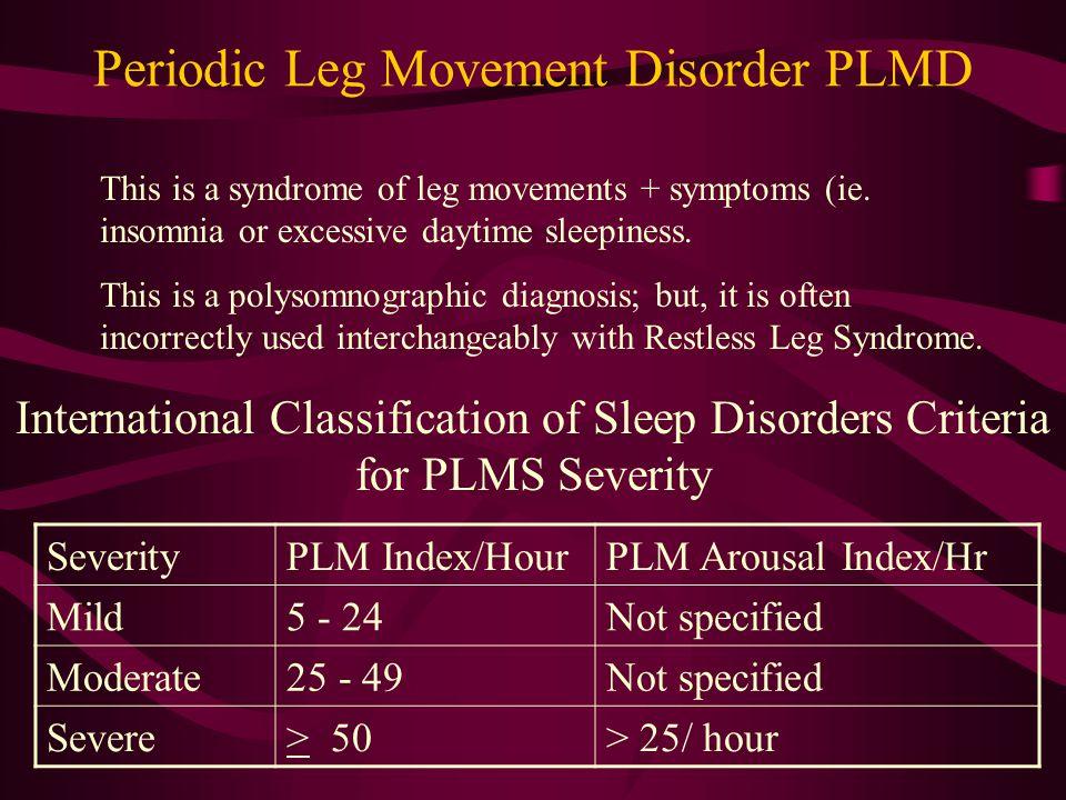 Periodic Leg Movement Disorder PLMD