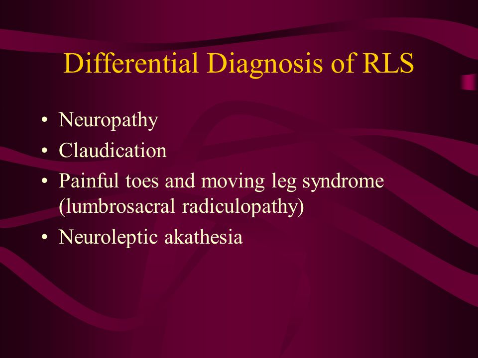 Differential Diagnosis of RLS