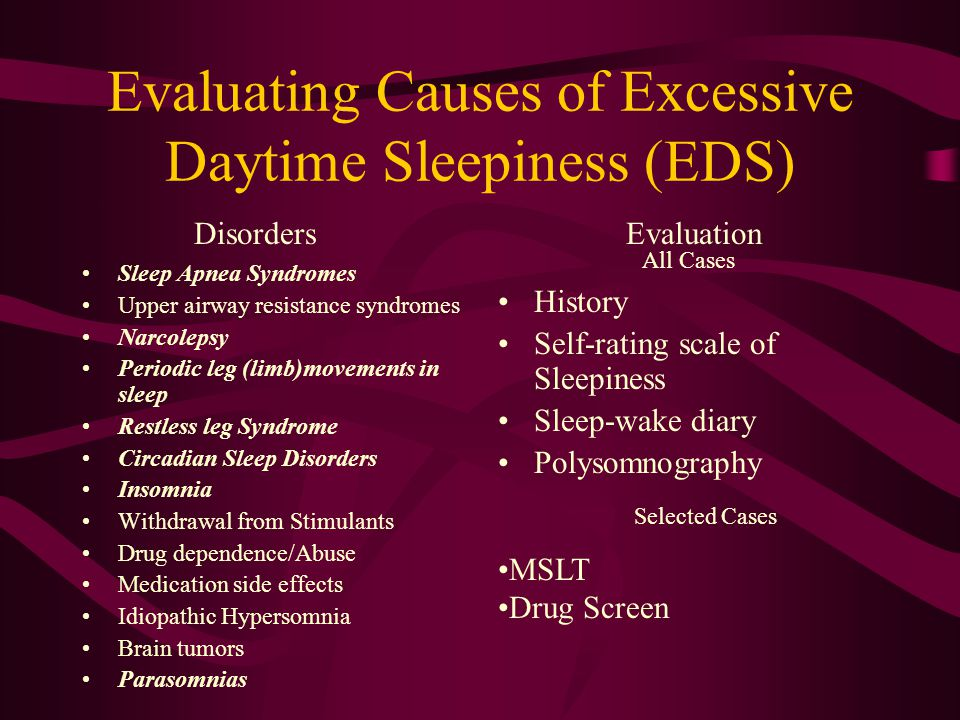 Evaluating Causes of Excessive Daytime Sleepiness (EDS)