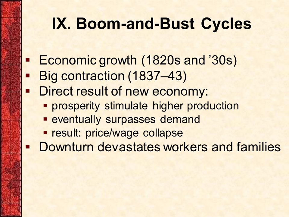 IX. Boom-and-Bust Cycles