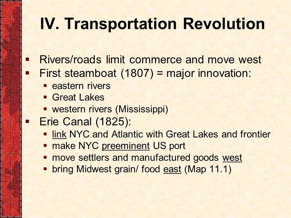 IV. Transportation Revolution