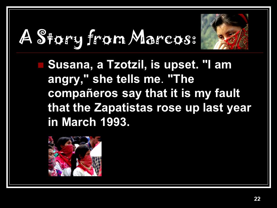 A Story from Marcos: