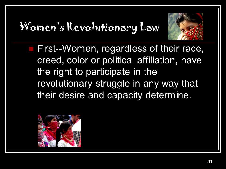 Women's Revolutionary Law