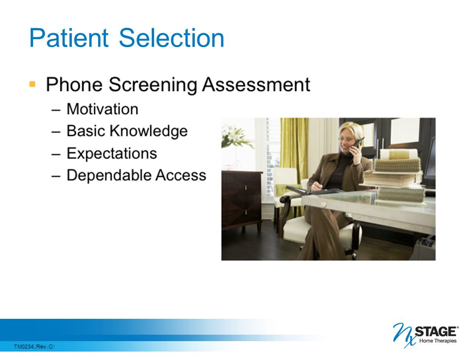 Patient Selection Now that we have looked at an overview of the screening process, let's discuss phone screening in more detail.
