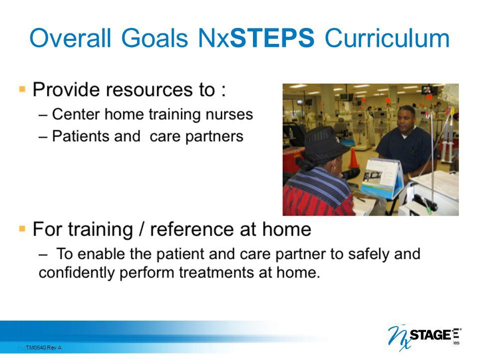 Overall Goals NxSTEPS Curriculum