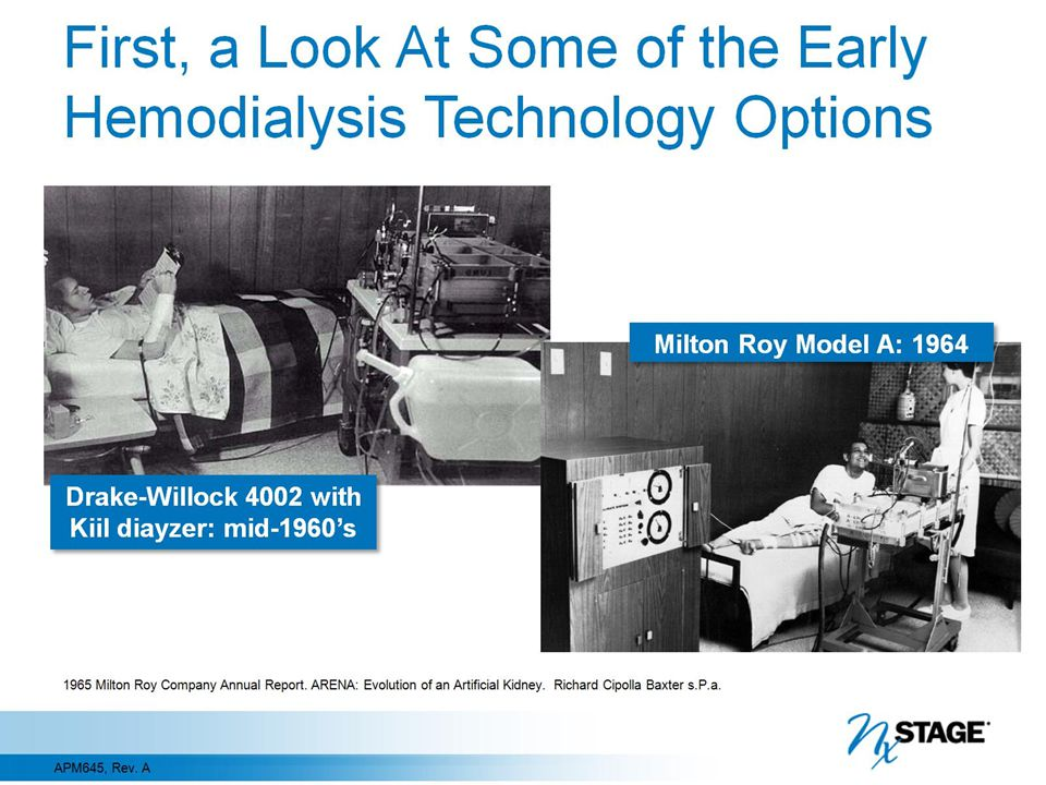 First, a Look At Some of the Early Hemodialysis Technology Options