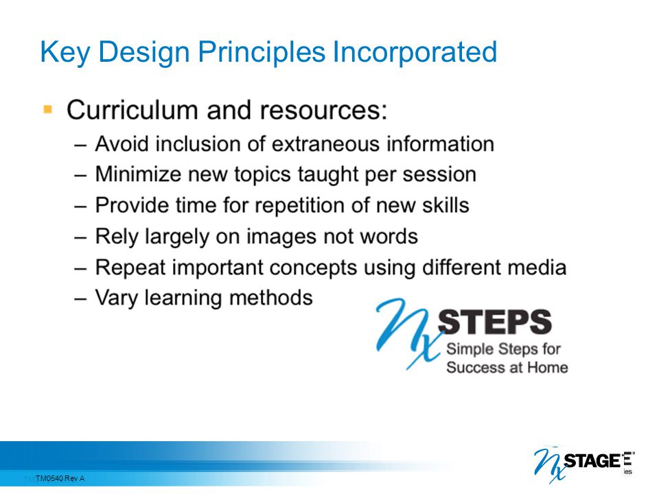 Key Design Principles Incorporated