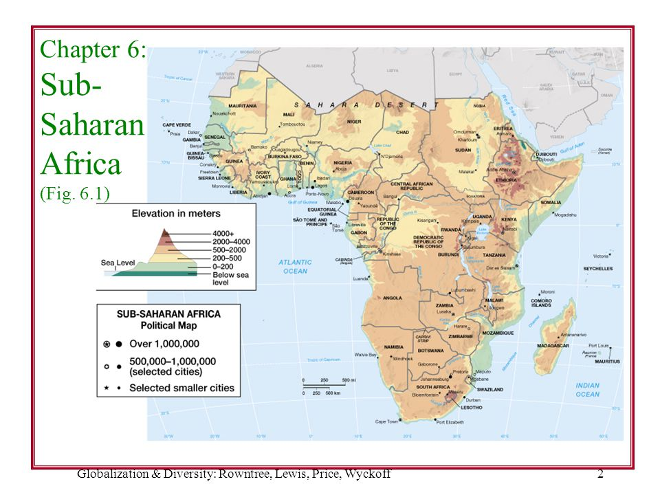 Chapter 6: Sub- Saharan Africa (Fig. 6.1)