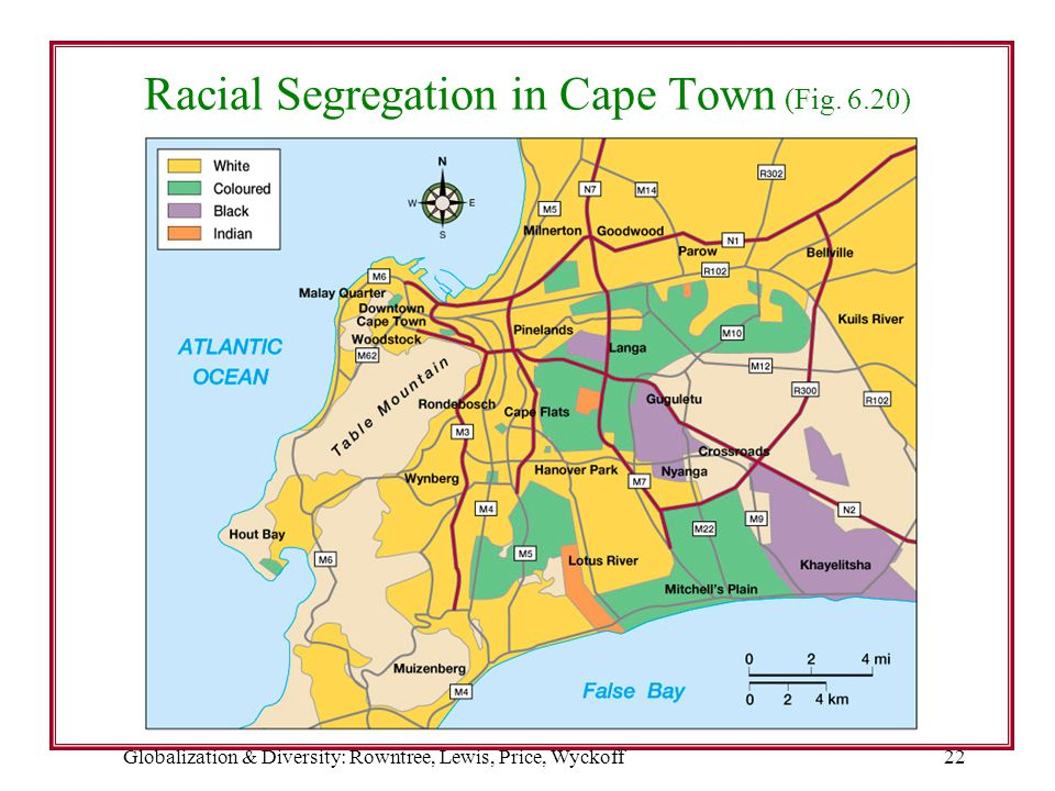 Racial Segregation in Cape Town (Fig. 6.20)