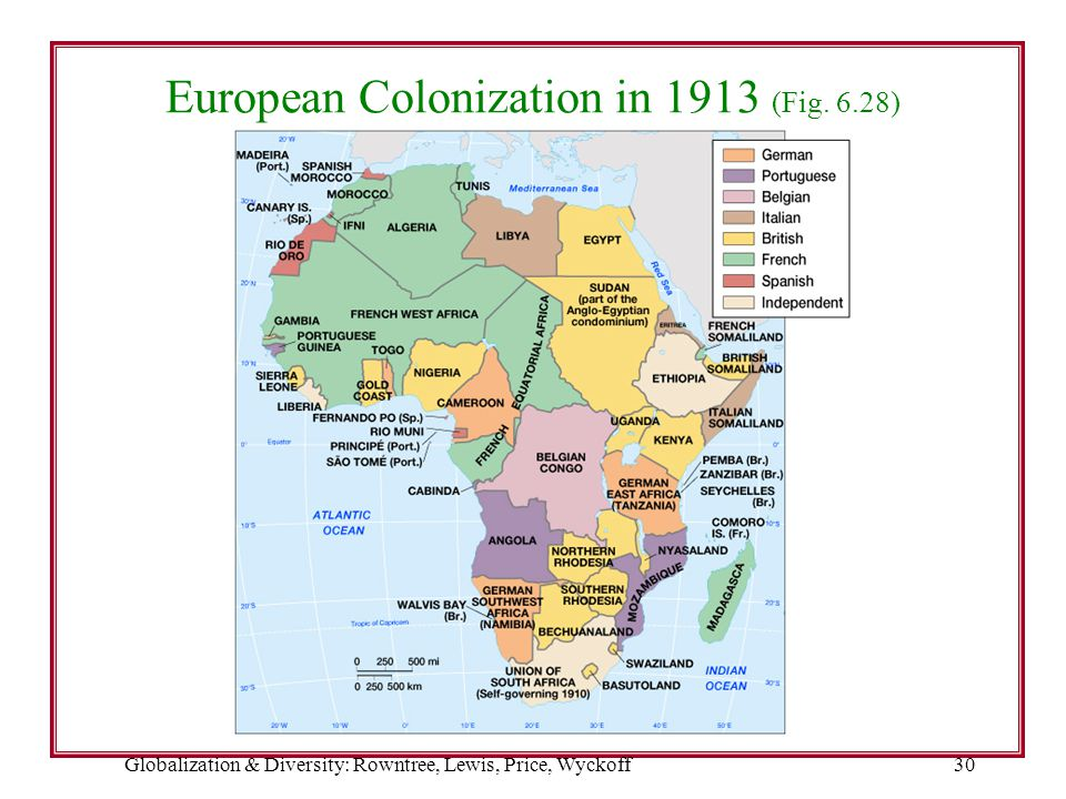European Colonization in 1913 (Fig. 6.28)