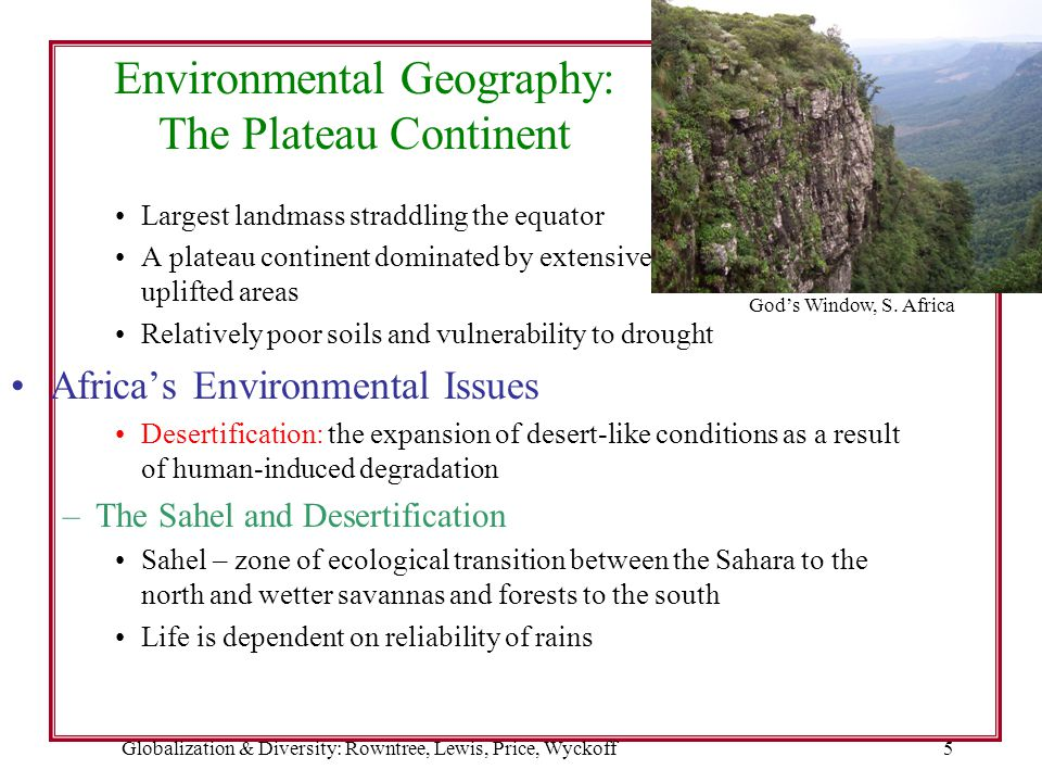 Environmental Geography: The Plateau Continent