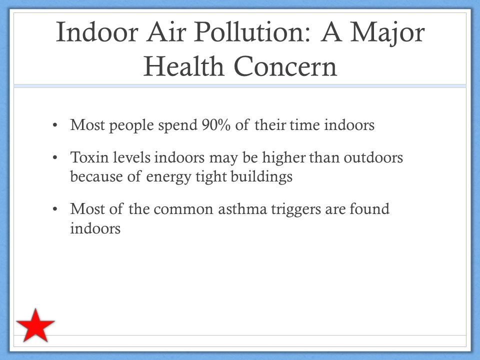 Indoor Air Pollution: A Major Health Concern