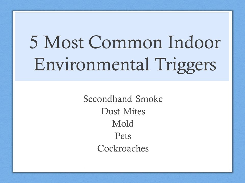 5 Most Common Indoor Environmental Triggers