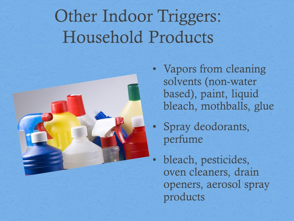 Other Indoor Triggers: Household Products