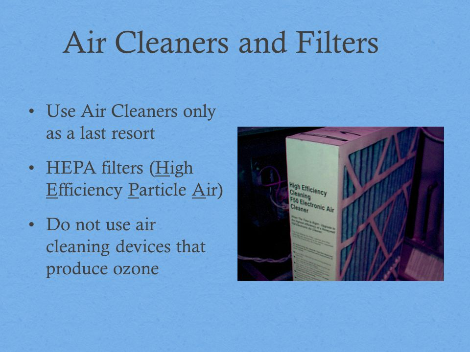 Air Cleaners and Filters