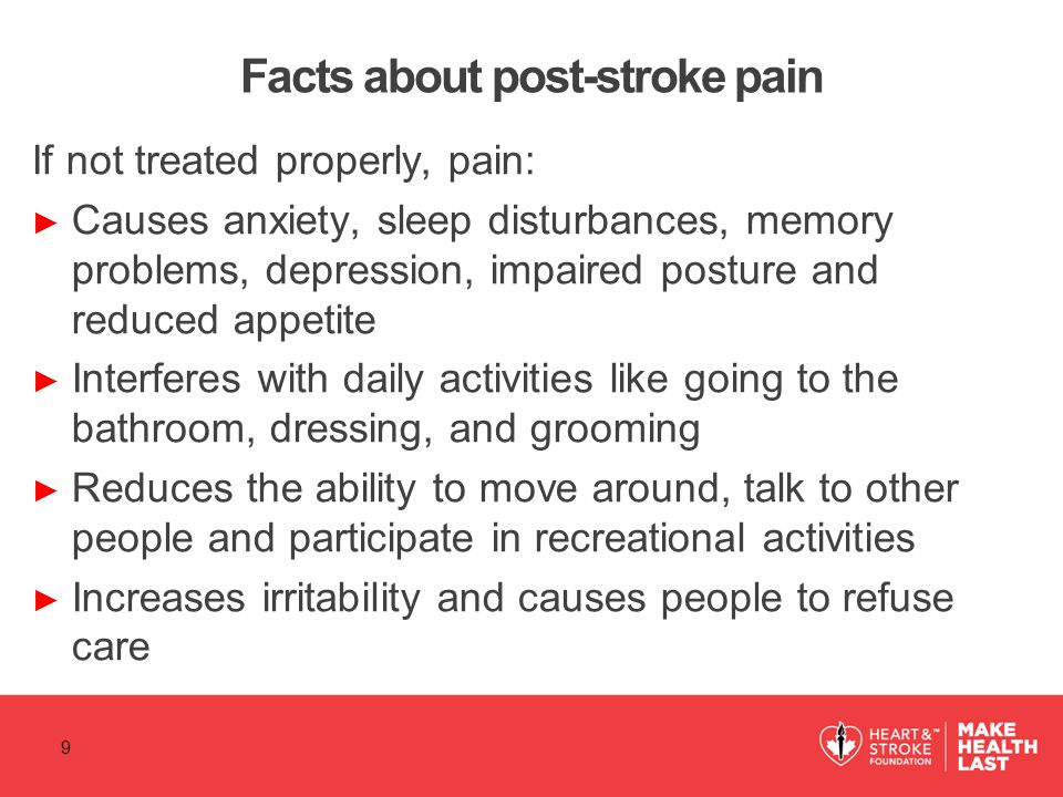 Facts about post-stroke pain