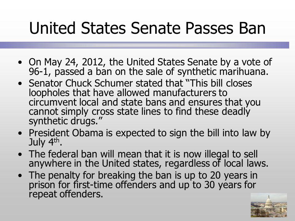 United States Senate Passes Ban