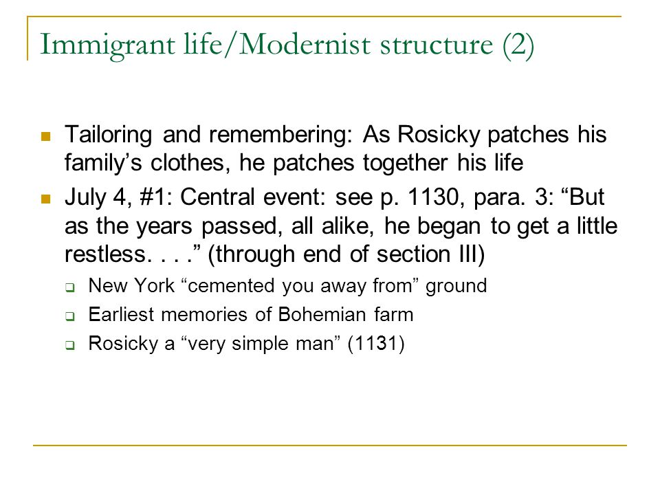 Immigrant life/Modernist structure (2)