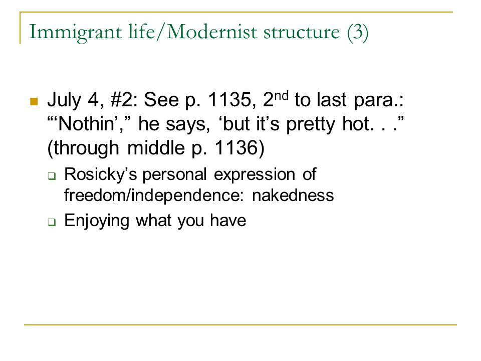 Immigrant life/Modernist structure (3)