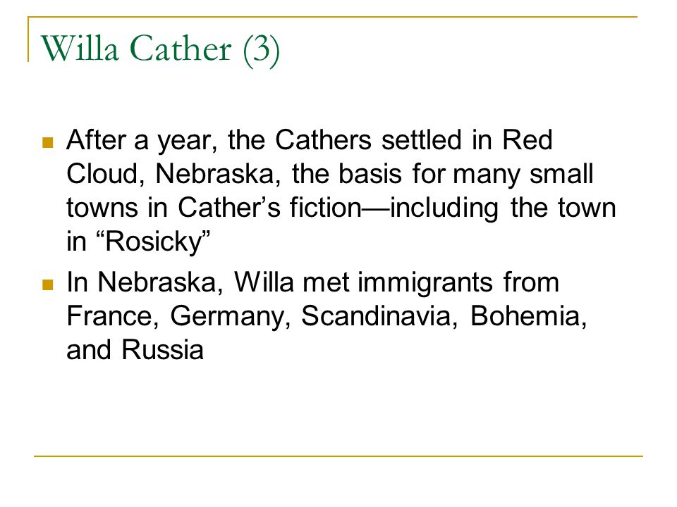 Willa Cather (3)