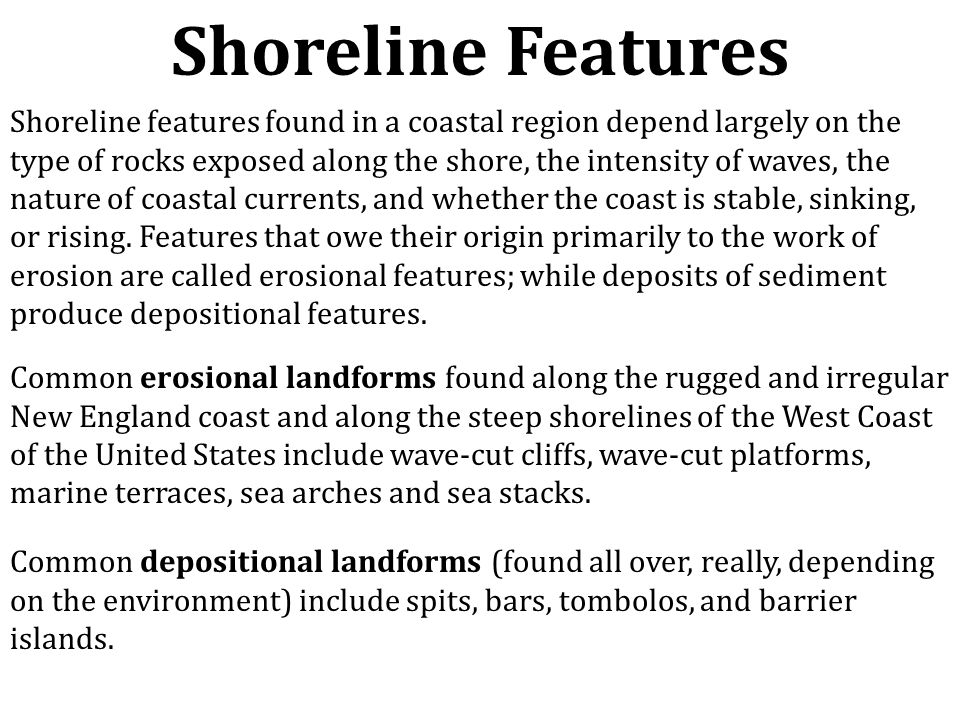 Shoreline Features