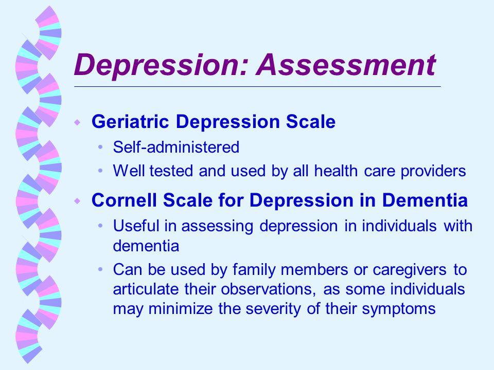 Depression: Assessment