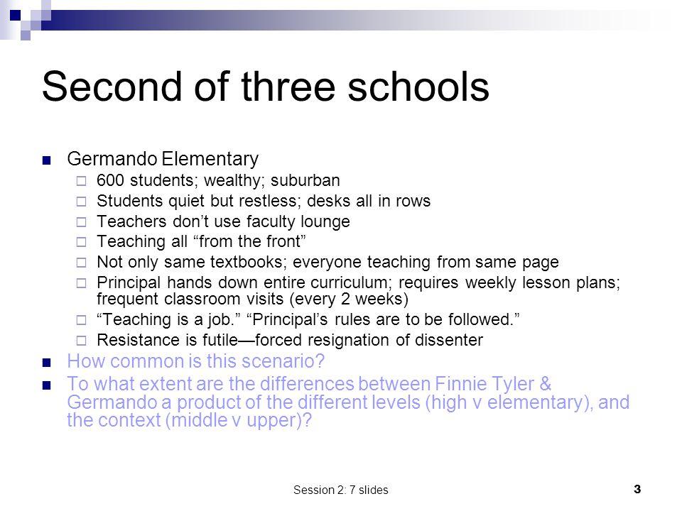 Second of three schools