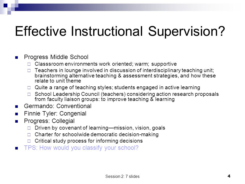 Effective Instructional Supervision