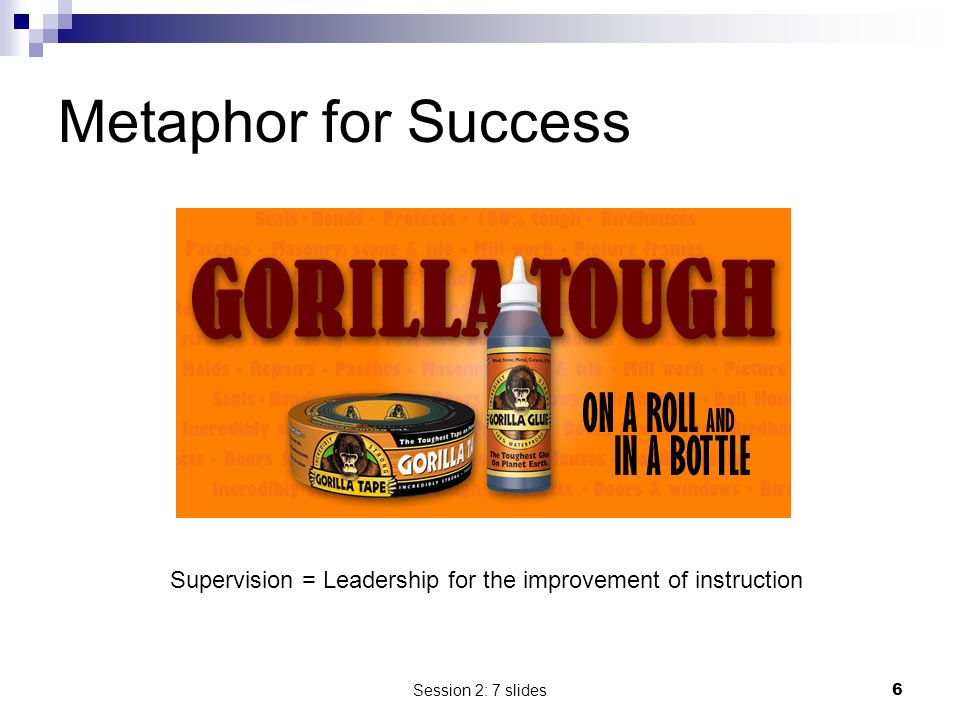 Metaphor for Success Supervision = Leadership for the improvement of instruction.