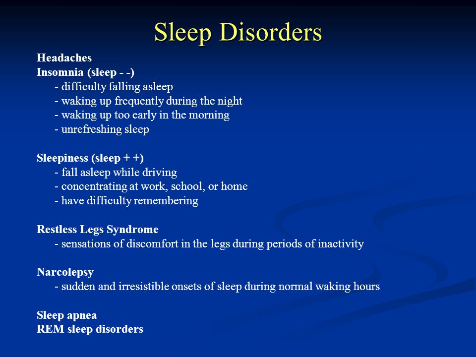 Sleep disorders 3