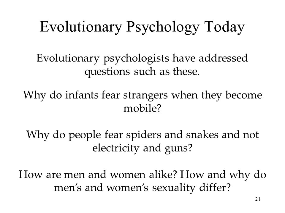 Evolutionary Psychology Today