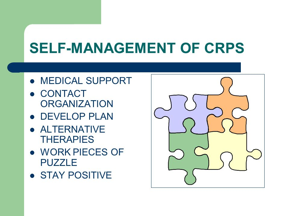 SELF-MANAGEMENT OF CRPS