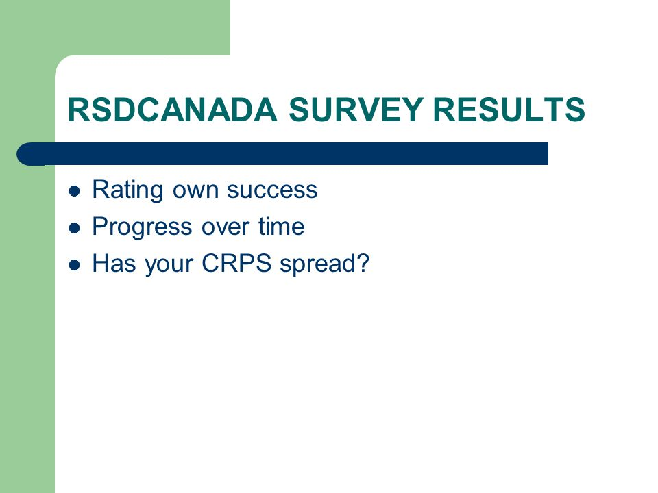 RSDCANADA SURVEY RESULTS