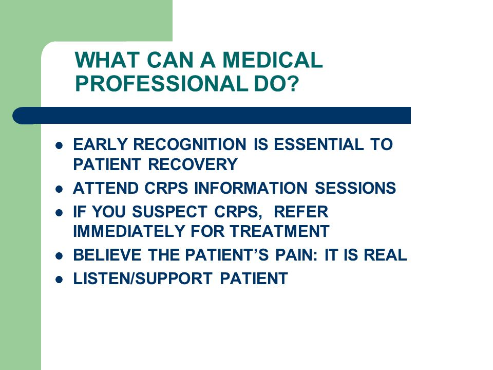 WHAT CAN A MEDICAL PROFESSIONAL DO